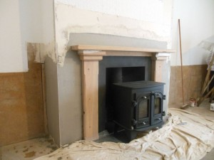 Stove with Oak Surround